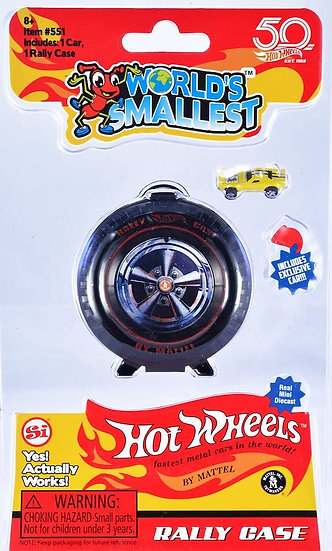 World's Smallest - Hot Wheels Rally Case