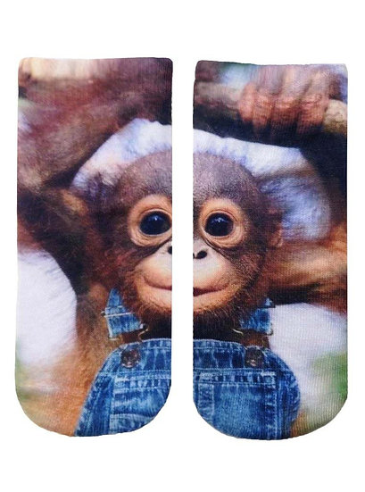 Monkeying Around Living Royal Ankle Socks