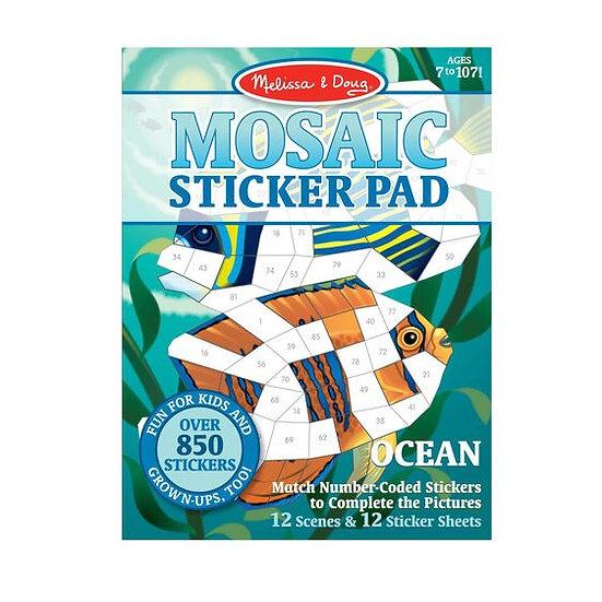 Mosaic Sticker Pad Ocean Melissa & Doug