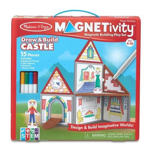 Magnetivity Draw and Build Castle Melissa & Doug