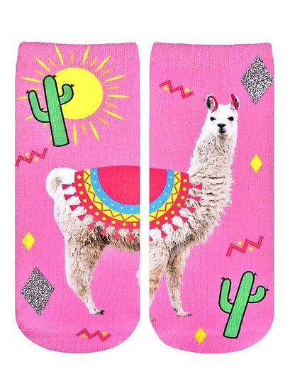 Peru Glitter Llama Living Royal Ankle Socks