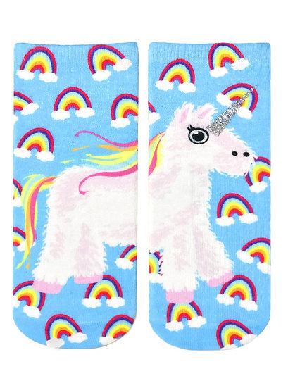 Unicorn Pinata Glitter Living Royal Ankle Socks