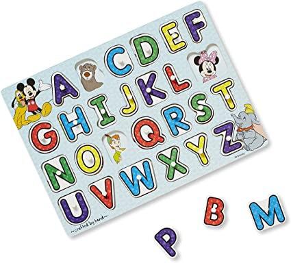 Disney Classics Alphabet Wooden Peg Puzzle Melissa & Doug