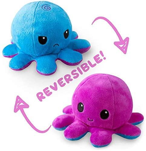 Tee Turtle Reversible Octopus Plush - Purple/Blue