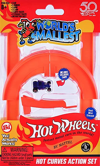 World's Smallest - Hot Wheels Hot Curves Action Set