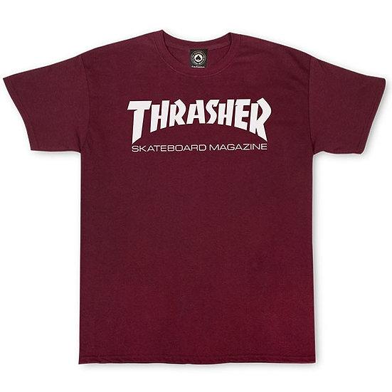 Thrasher Logo Tshirt Maroon