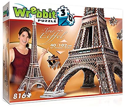 Eiffel Tower Wrebbit 3D Puzzle 816pc