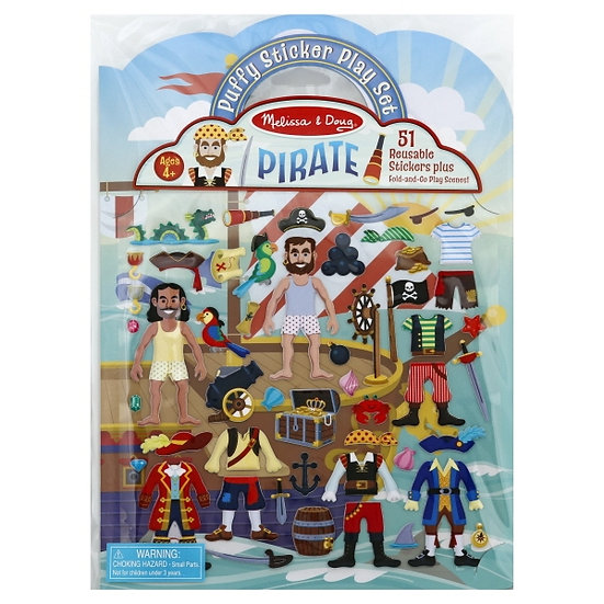 Puffy Sticker Play Set Pirate Melissa & Doug