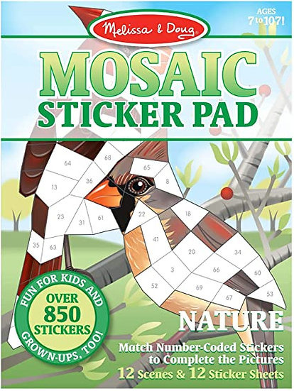 Mosaic Sticker Pad Nature Melissa & Doug