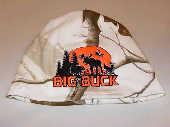 Tuque 8'' Big Buck / Realtree (Neige)