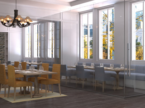 Private Dining Glass Enclosure