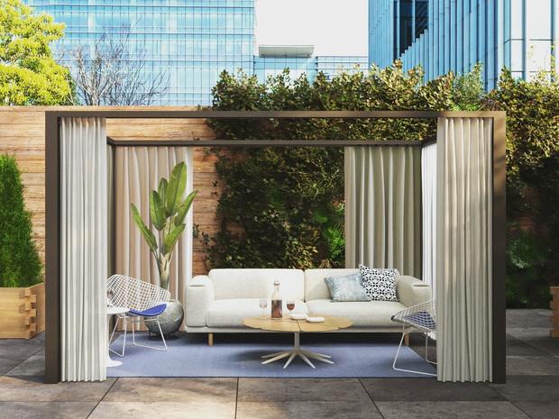Beautiful restaurant patio
