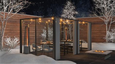 Warm patio