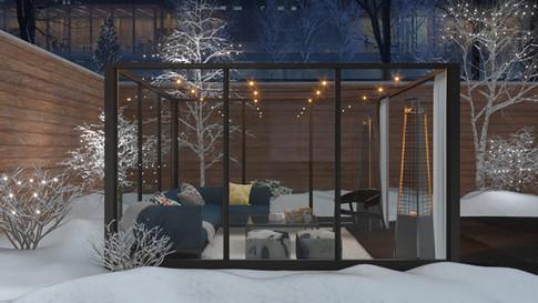 Glass enclosed patio