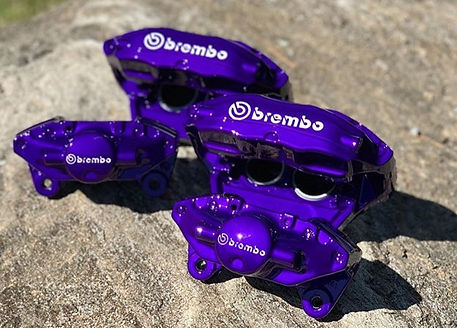 A set of #brembo #calipers #powdercoated