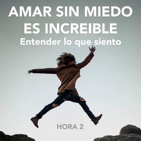 HORA 2 - AMAR SIN MIEDO ES INCREÍBLE - ENTENDER LO QUE SIENTO