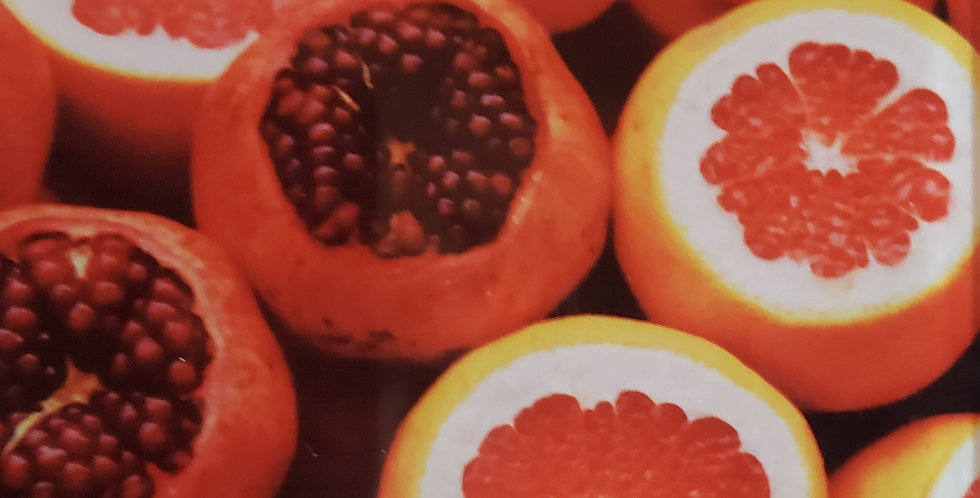 Oranges & Pomegranate Glass Magnet