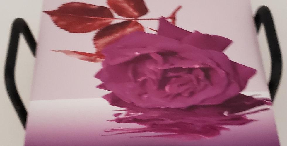 Purple Rose Coaster Set