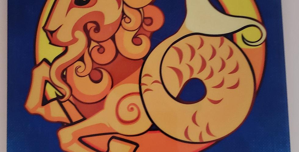 "Capricorn Ceramic Tile Wall Decor 8"" x10"""