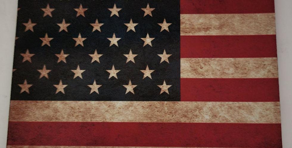 "Mouse Pad U. S. Flag Design 7.75"" x 9.25"" x 1/4' Thick"