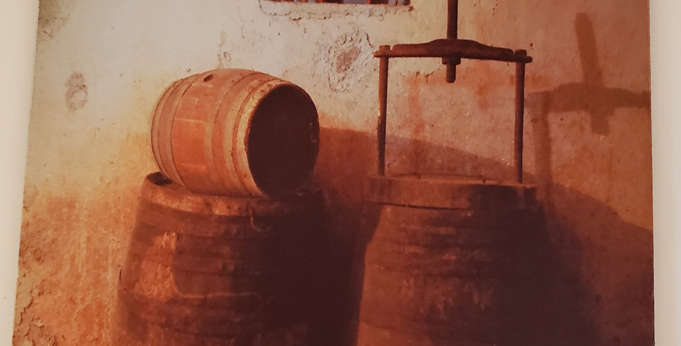 Vintage Wine Barrels and Press Mouse Pad