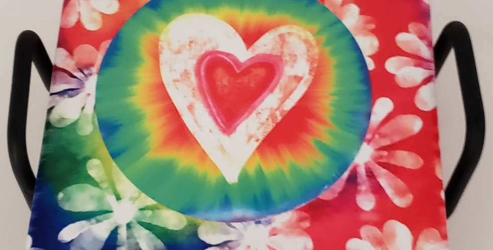 Tye Dye Heart Coaster Set