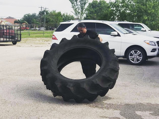 Tire flips start off our Saturday.