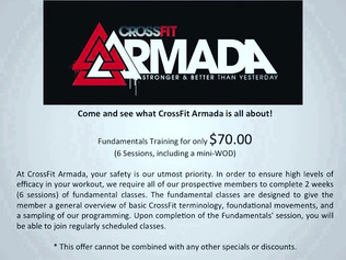 Join CrossFit Armada now!