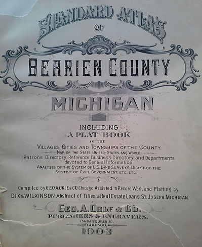 1903 Berrien County Plat Book Cover Page