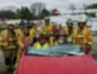 Galien Firemen training on vehicle extraction