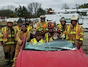 Galien Firemen training on vehicle extraction