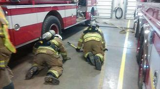 Galien firemen in training session
