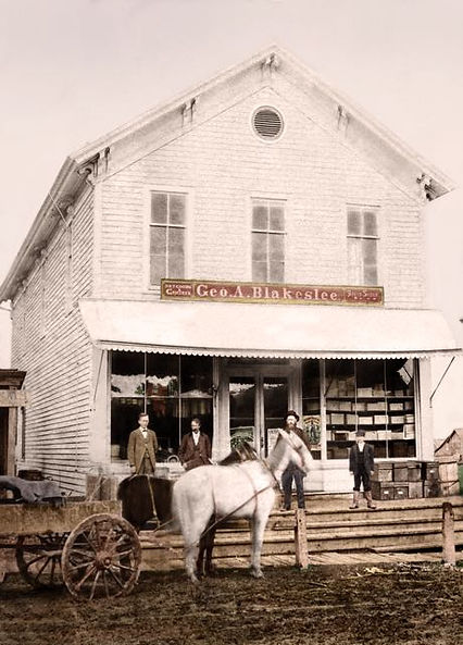George Blakeslee store front circa 1880's