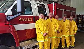 Galien Firemen in new wildland gear