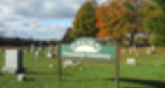 Galien Township Cemetery in fall
