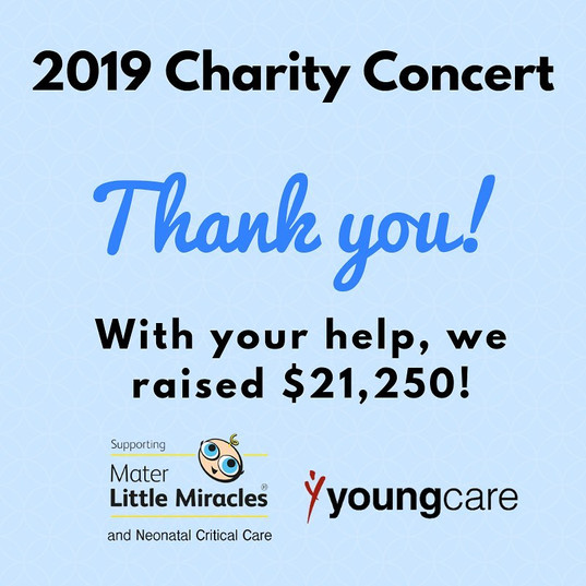 We raised a total of $21,250 for Mater Little Miracles and Youngcare