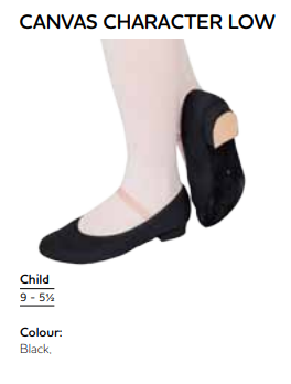 PRE-ORDER: Character Shoes (Low Heel: Grade 1 - 3 Ballet)