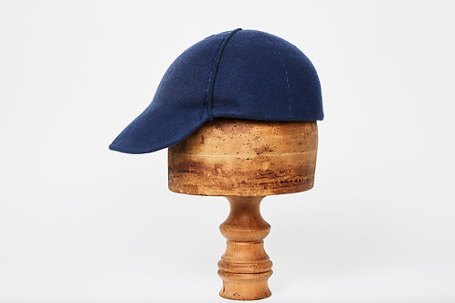 Wool Baseball Cap with Hand stitched detail