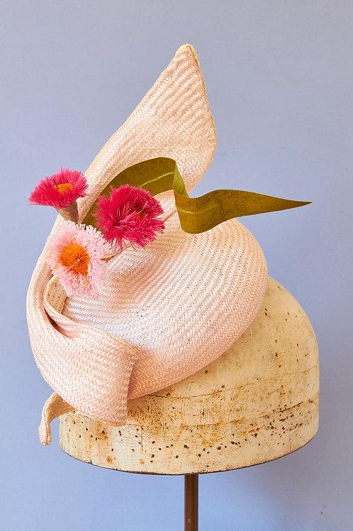 Pink Gum Blossom Straw Button with twist