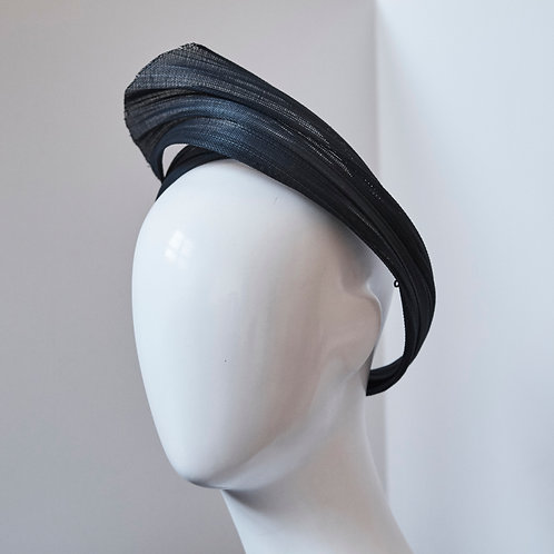 Modern Turban Twist in Navy