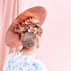Copper picture hat for the 2018 Milliner