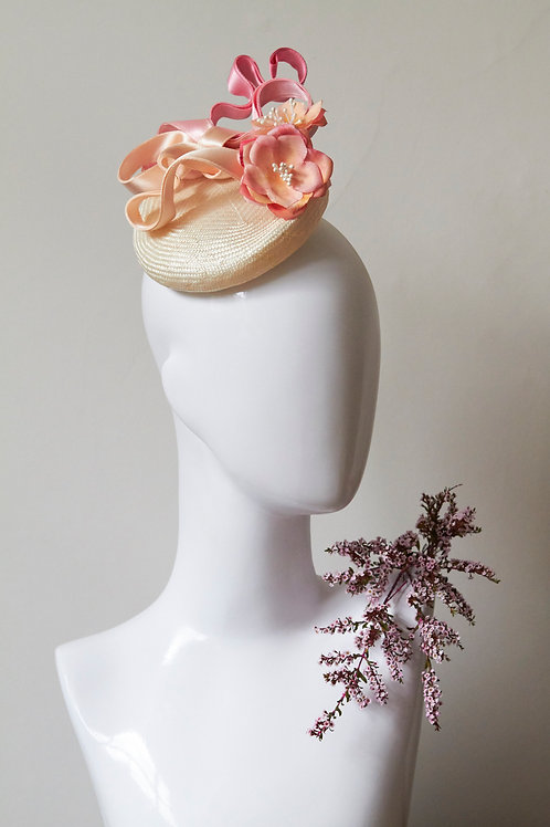 Peony and Ombre Ribbon Beret