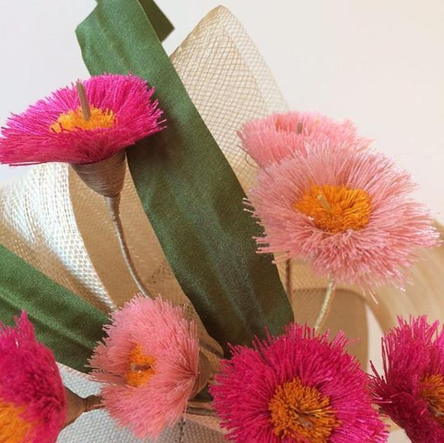 Gum blossoms in progress for Flora _  Au