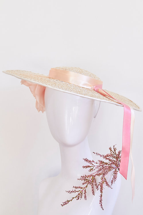 Fancy Cartwheel with Silk flower and Ombre ribbon
