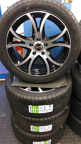 "18"" VW TRANSPORTER, CARRE SATURN ALLOYS WITH 255/45X18 XL TYRES"