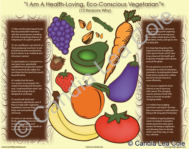 reasons to be a vegetarian infographic poster