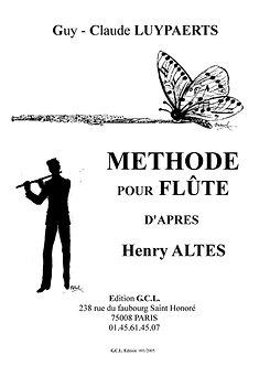 Guy-claude Luypaerts - Méthode de flûte d'après ALTES
