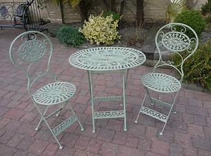 Metal Table And Chair Set
