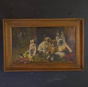 Framed Oil On Canvas Signed Fannie Moody