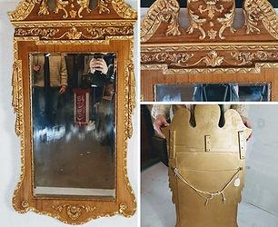 _George II Walnut and Parcel Gilt Mirror